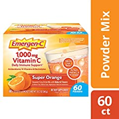 Why settle for a good day when you can have a super one? Emergen-C Vitamin C drink mix is a great way to help support your immune system with Vitamin C as part of your daily wellness routine. Emergen-C dietary supplement provides 1,000 mg of ...