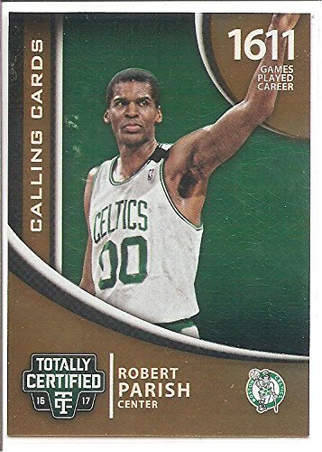 Robert Parrish Boston Celtics 2016-17 Panini Totally Certified Calling Cards Basketball Card #30 ()