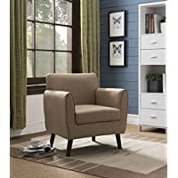 Kings Brand Furniture Brown Upholstered Fabric Oversized Accent Living Room Arm Chair