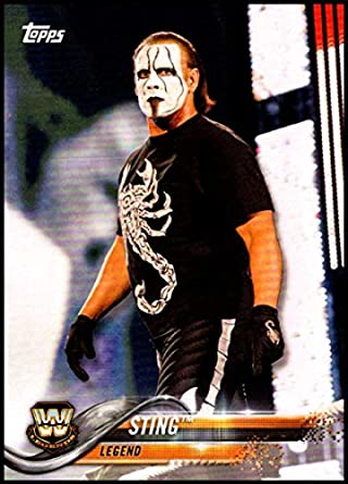amazon com 2018 topps wwe then now forever 199 sting wrestling