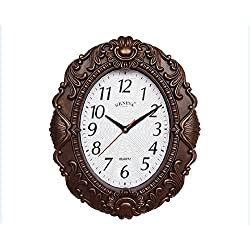 Spain Gorgeous Vintage Style Styling Wall Clock / Oval Anti Mirror 14-inch Clock H0384, Arab + Red Copper Colored