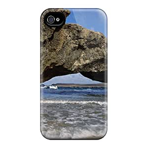 Durable Defender Case For Iphone 4/4s Tpu Cover(rock Shore)