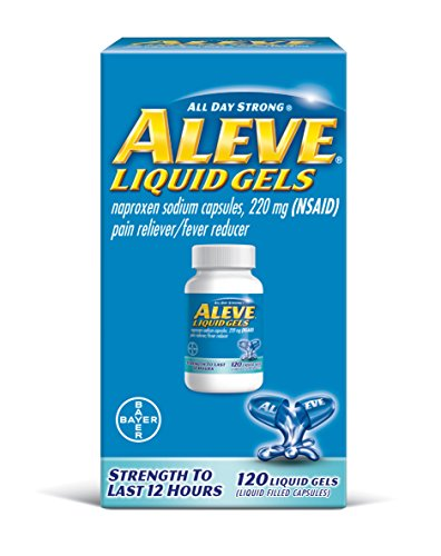 Aleve Liquid Gels, Naproxen Sodium Capsules 220 mg (NSAID), Pain Reliever/Fever Reducer, Fast Pain Relief, 120 Count ()