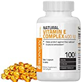 Bronson Natural Vitamin E Complex 400 I.U. (D-alpha Tocopherol), 100 Softgels For Sale