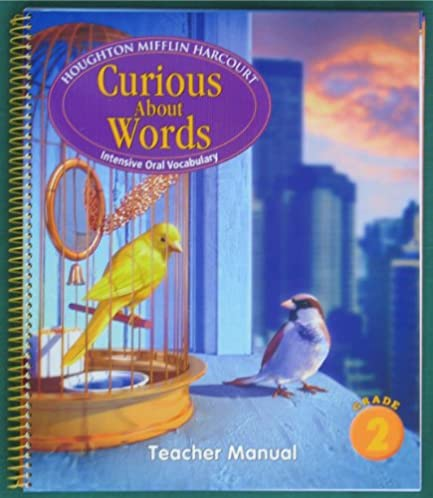 amazon com journeys curious about words teacher manual grade 2 rh amazon com Houghton Mifflin Math Houghton Mifflin Reading
