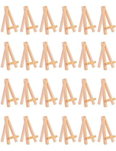 MEEDEN 24pcs Mini Wooden Easel Small Wood Display Stand for sale  Delivered anywhere in Canada