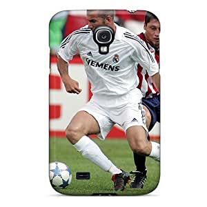 Case Cover The Legend Of Football Zinedine Zidane Passing The Ball/ Fashionable Case For Galaxy S4