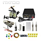 ITATOO Complete Tattoo Kit for Beginners Tattoo Power Supply Kit 1 Black Tattoo Ink 5 Tattoo Needles...