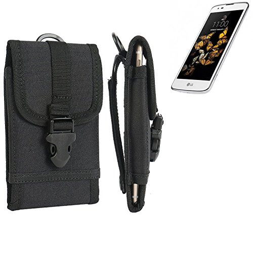 bolsa del cinturón / funda para LG Electronics K8, negro | caja del teléfono cubierta protectora bolso - K-S-Trade (TM)