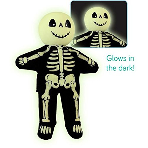 Fiesta Crafts Finger Puppets - Fabric Skeleton Finger Puppet With Wooden Head