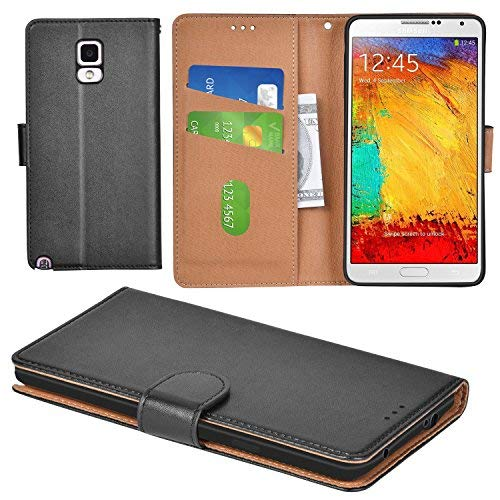 Aicoco Galaxy Note 3 Case Flip Cover Leather Wallet Phone Case for Samsung Galaxy Note 3 - Black by Aicoco