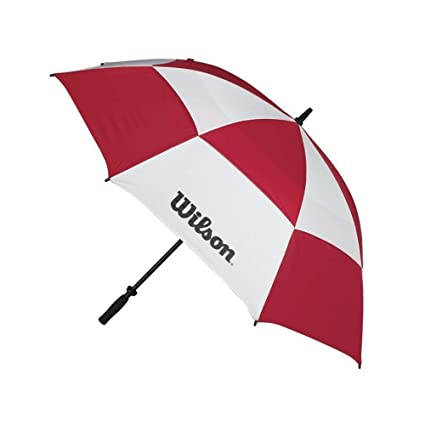 Wilson 62 Inch Double Canopy Umbrella Red/White