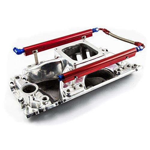 Intake Manifold Bbc (Procomp Electronics PCE148.1064 Chevy BBC 454 Rect Port Dominator w/Fuel Rail High Rise Intake Manifold Polished Shootout)