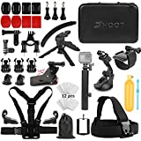 SHOOT Must Have Accessories Kit Wirth Monopod GoPro HERO7 Black Silver White 6 5 4 3+ 3 5 Session Hero(2018) Fusion Campark AKASO DBPOWER Crosstour Camera