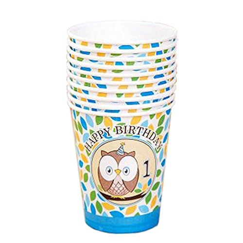 40 Counts Lovely Owl Pattern Water Paper Cup Disposable Cup For Office/Home