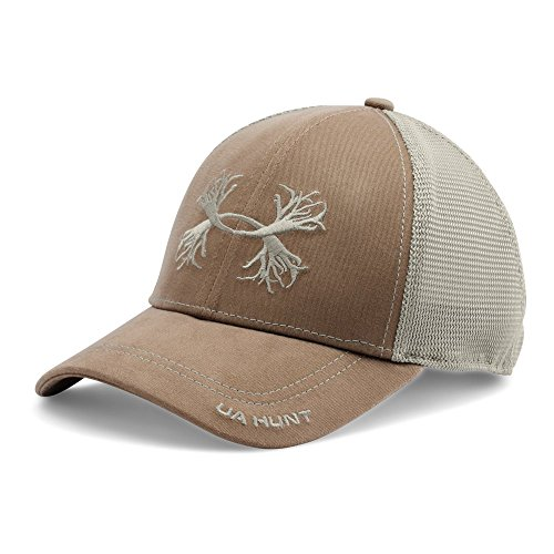 Under Armour Men's Antler Mesh Cap, Saddle/Graystone, One Size