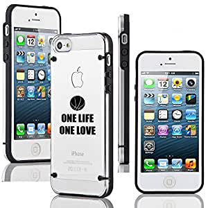 Apple iPhone 5 5s Ultra Thin Transparent Clear Hard TPU Case Cover One Life Basketball (Black)