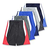 American Legend Mens Athletic Polyester Shorts - Set 3-5 Pack, XXL