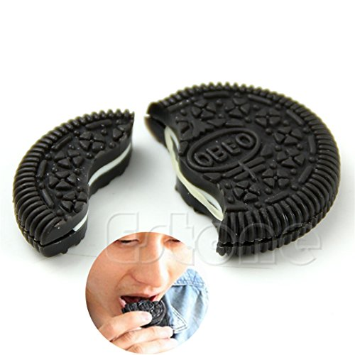- ChangeYOu Magic Close-Up Cookie Street Trick Biscuit Bitten And Restored Gimmick OREO Bite