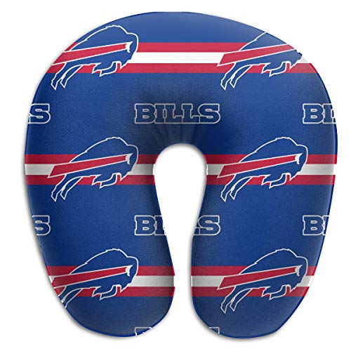 Sorcerer Custom Colorful Neck Pillow Buffalo Bills American Football Team Rest for Airplanes Travel Pillow Comfort and Convenience Sleeping Neck Pain U-Shaped Pillow ()