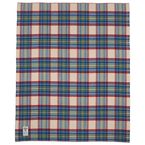 Woolrich Home 92473 Seven Springs Plaid Blanket, Wool Cream Multicolor, 56