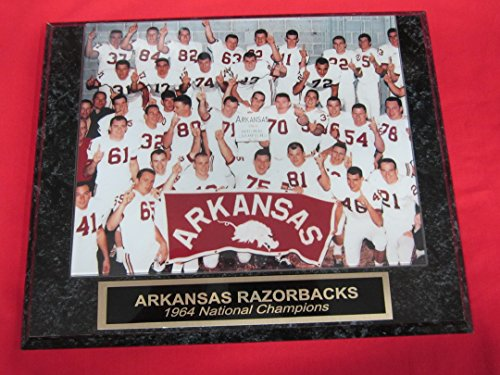1964 Arkansas Razorbacks Football National Champions Collector Plaque w/8x10 Photo