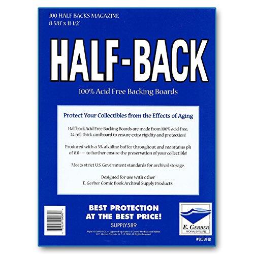 Half-Back Magazine Backing Boards 8 5/8