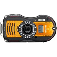 Ricoh 16 Waterproof Underwater Digital Camera Hybrid with 3 LCD, Orange (WG-5 GPS)