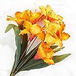 Factory-Direct-Craft-Orange-Artificial-Amaryllis-Bush