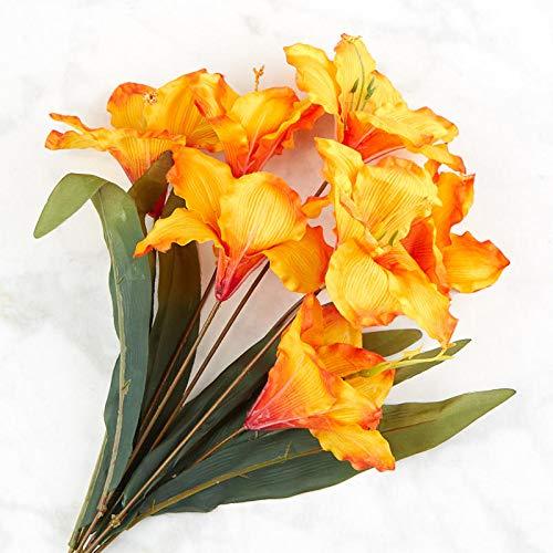 Factory Direct Craft Orange Artificial Amaryllis Bush - Amaryllis Bush