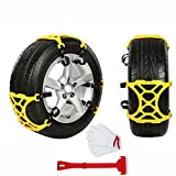 Warmoor Anti Slip Tire Chains Adjustable Car Tire Chains Easy Installation Emergency Thickening Anti-Skid Tire Chains with Double Clips Fit for Most Car/SUV/Truck