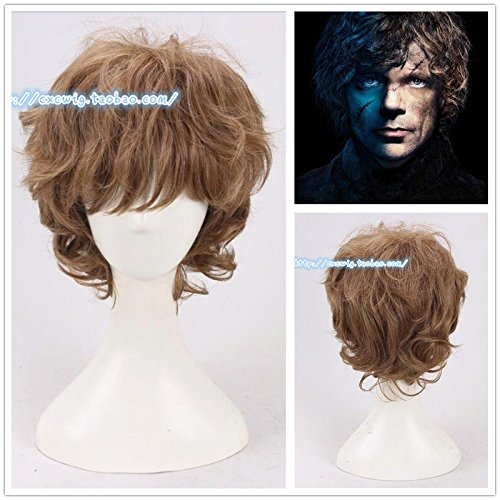 Game Little Devil right Tyrion Lannister wig short brown curly -
