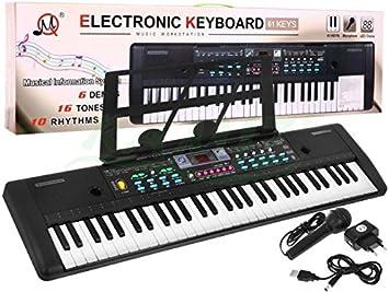 Teclado electrónica de Juguete Keyboard MQ-605UFB con Microfóno