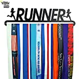 Visual Elite | Runner | Medal Hanger Hand-Forged Black Metal Hanger Design For Marathon, Running, Race, 5K, Etc. The Medal Hangers Collection