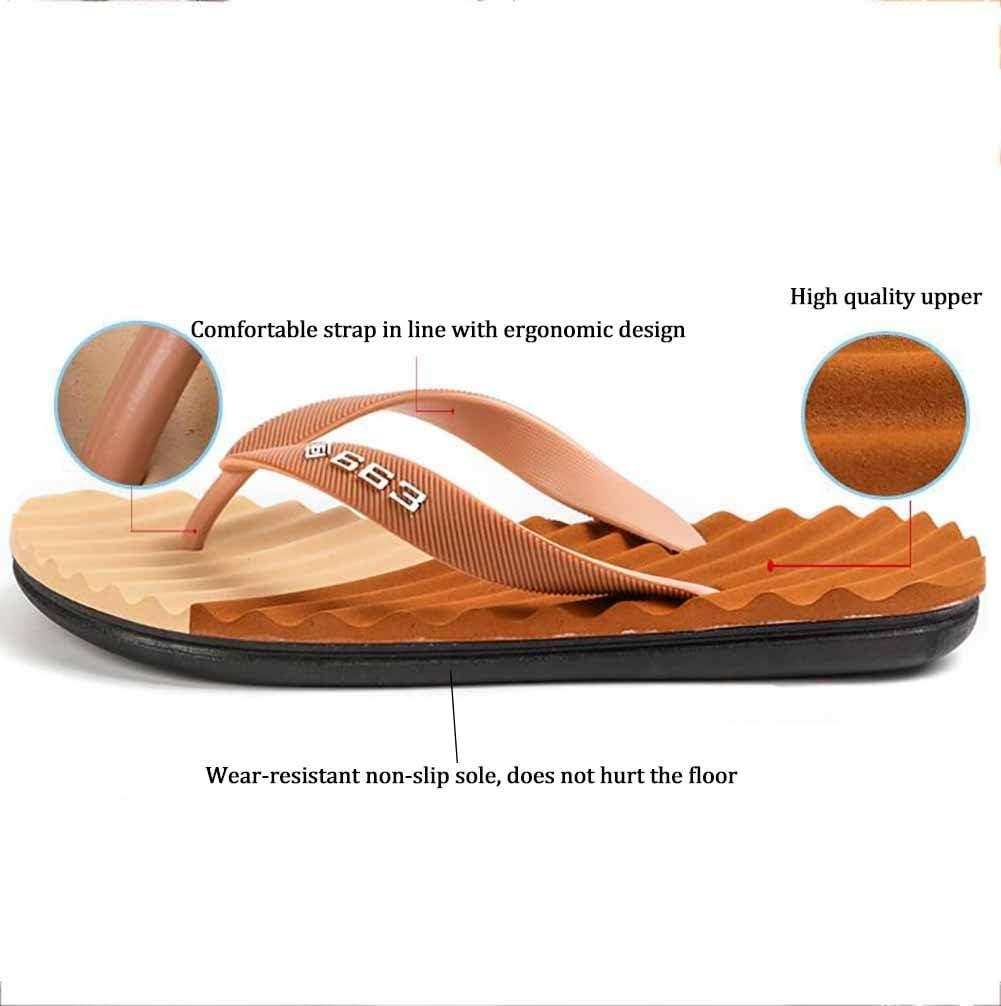 SHANGXIAN Summer Mens Flip Flops Foot Massage Non-Slip Beach Slippers Breathable Lightweight Casual Sandals,Blue,40