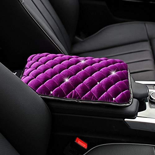 Seat Cover Winter Warm Diamond Plush Universalseat Cover Mat Seat Cushion Velvet Rhinestones Protectoraccessories Girls Women
