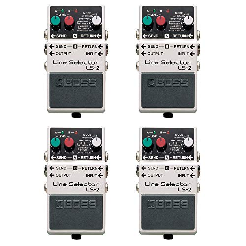 Boss LS2 Line Selector Battery Power Multi Effect Electric Guitar Pedal (4 Pack)