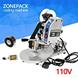 ZONEPACK Manual Electric Hot Stamp Date Code Printer Semi Automatic Coding Machine 110V 40W
