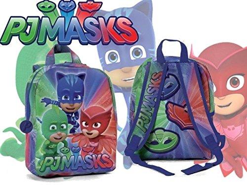 PJ Masks  Aventuras en pijamas - Mochila pequeña para guardería y escuela  para niños pequeños bcf90398a81