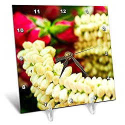 3dRose Danita Delimont - Flowers - Thailand, Bangkok Street Flower Market, Flowers on Display. - 6x6 Desk Clock (dc_312835_1)