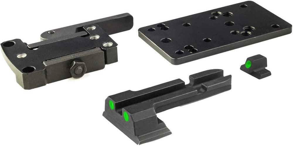 Meprolight ML881500 MicroRDS Quick Detach Adapter Backup Sights Compatible with Glock Bundle with Deco Gear Accessories Kit