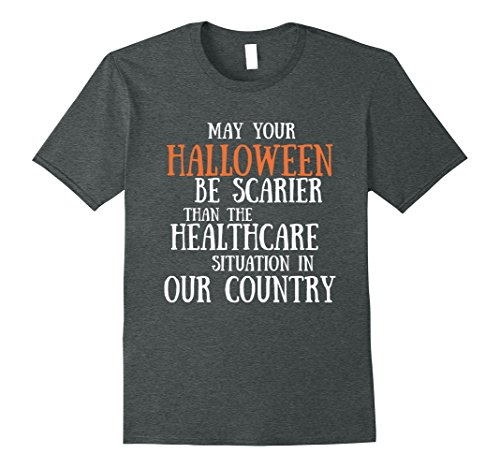 Politically Incorrect Costume (Mens Scary Democrat Republican Healthcare Halloween T-Shirt Large Dark Heather)