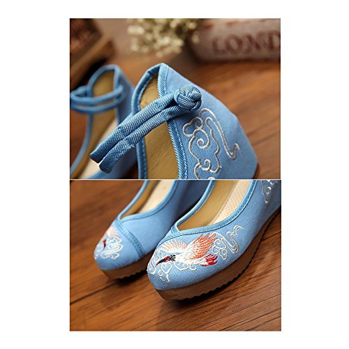 Cloth Embroidered whitin Phoenix Old 39 Increased jeans Shoes light Beijing gwPnAqYn5I