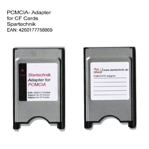 (PCMCIA Compact Flash Card Adaptor for Compactflash devices, like CF GPS Receiver, Memory Cards, Beamer, Tachymeter, projector, survey equipment, Notebook, Laptop, PC for CF 1)