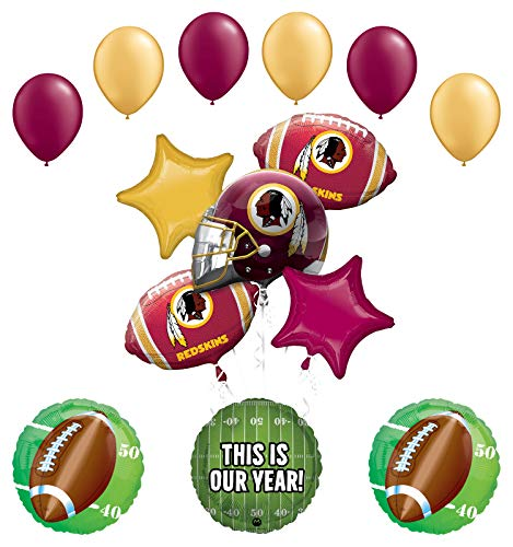 (Mayflower Products Washington Redskins Football Party Supplies This is Our Year Balloon Bouquet Decoration)
