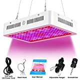 1000W LED Grow Light Double Chip Full Spectrum for Greenhouse Hydroponics and Indoor Plants Veg and Flowering (White)