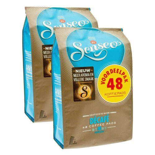 Senseo Coffee Pods - 48 Pods - Different Flavor - Imported From Netherlands (Decaffeinated, 96)