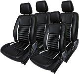 Khushal Leatherite Car Seat Cover for Maruti BALENO KS013MBALENO Black/Orange