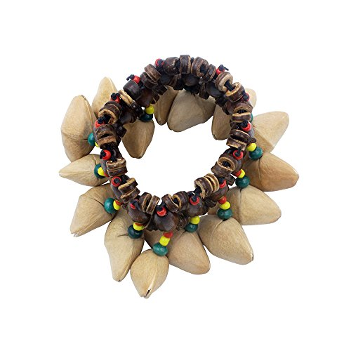 ammoon Nuts Shell Bracelet Handbell for Djembe African Drum Conga Percussion -