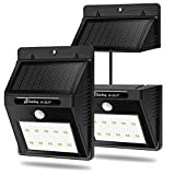 Solar Motion Sensor Lights,10 LED Solar Sensor Wall Lights Wireless Security Light /Security lamp Separately Installed for Outdoor/Indoor ( 2 Pack )